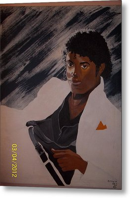 Michael Jackson Metal Print by Elaine Holloway