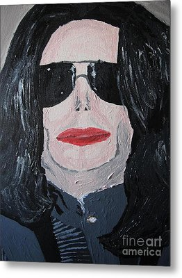 Michael Jackson King Of Pop Metal Print by Jeannie Atwater Jordan Allen