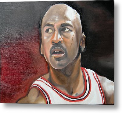Michael Jordan Metal Print by Matt Burke