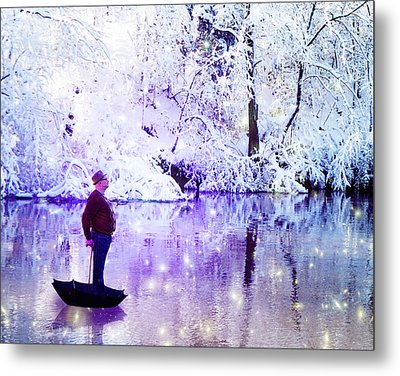 Michale Poppins Winter Adventure Metal Print by Michael Taggart