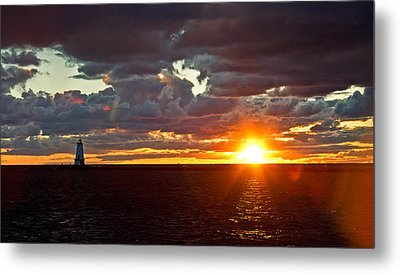 Metal Print featuring the photograph Michigan Sunset by Randall  Cogle