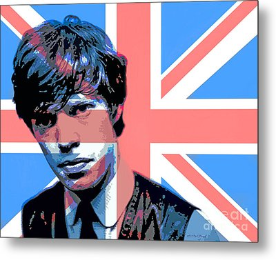 Mick Jagger Carnaby Street Metal Print by David Lloyd Glover