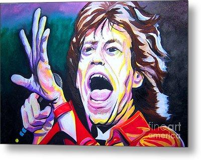 Mick Jagger Metal Print by Ken Huber
