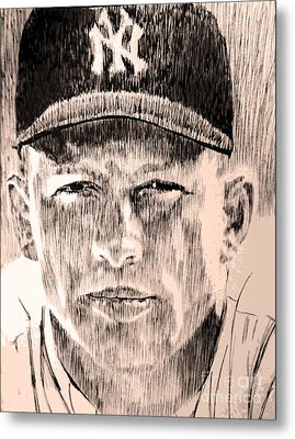 Mickey Mantle Metal Print by Robbi  Musser