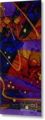 Mickey's Triptych - Cosmos IIi Metal Print by Angela L Walker