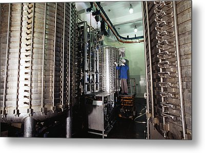 Microbe Fermentation Unit Metal Print by Volker Steger