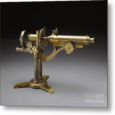 Microscope, 1864 Metal Print by Science Source