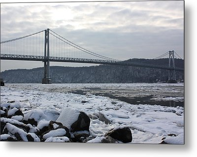 Mid-hudson In Winter Metal Print by Robert Rizzolo