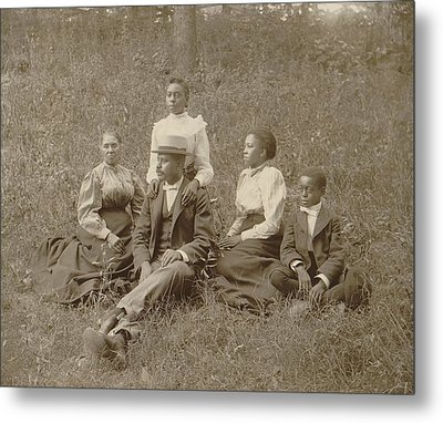 Middle Class African American Family Metal Print by Everett