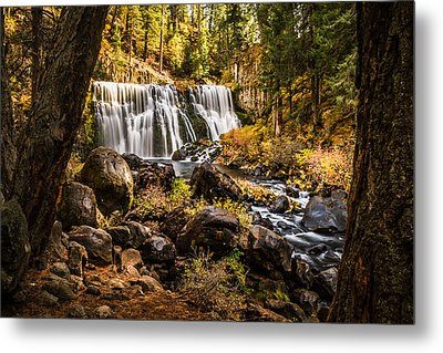 Metal Print featuring the photograph Middle Falls Mccloud River -2 by Randy Wood