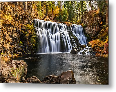 Metal Print featuring the photograph Middle Falls Mccloud River by Randy Wood