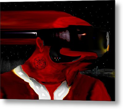Midnight At The Spaceport Metal Print by AW Sprague II
