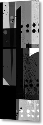 Midnight In The City 3 Triptych Metal Print by Ann Powell