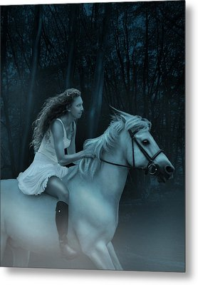 Metal Print featuring the photograph Midnight Ride Through The Forest by Ethiriel  Photography