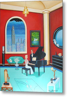 Midnight Serenade   Metal Print by Tracy Dennison