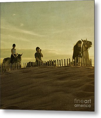 Midsummer Evening Horse Ride Metal Print by Paul Grand