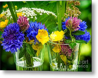 Midsummer Flowers Metal Print