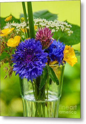 Midsummer In A Glass Metal Print
