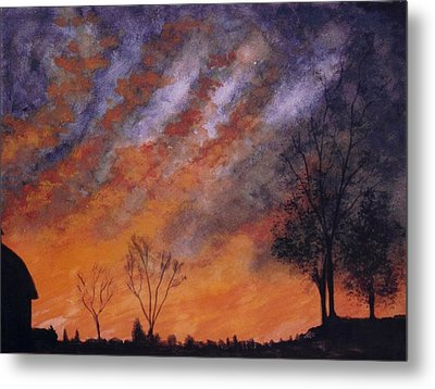 Metal Print featuring the painting Midwest Sunset by Stacy C Bottoms