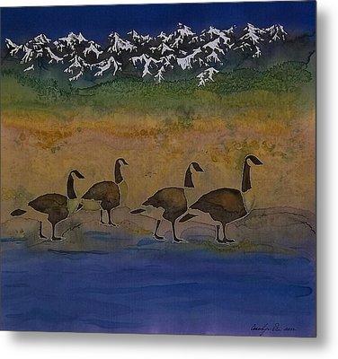 Migration Series Geese 2 Metal Print by Carolyn Doe