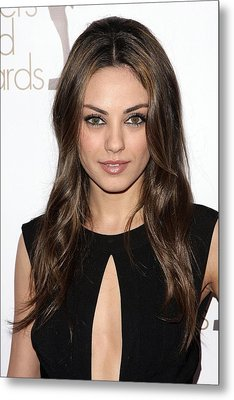Mila Kunis At Arrivals For 2010 Writers Metal Print by Everett