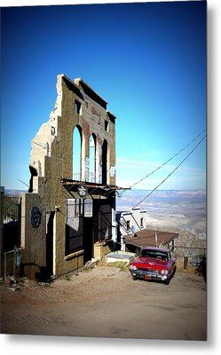 Metal Print featuring the photograph Mile High Jerome Arizona by Cindy Wright
