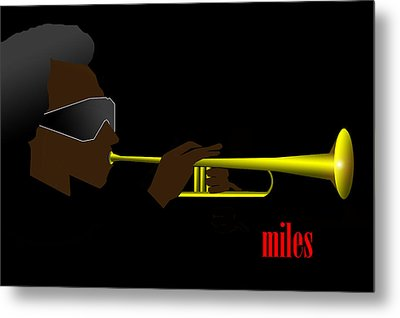 Miles Davis Metal Print by Victor Bailey