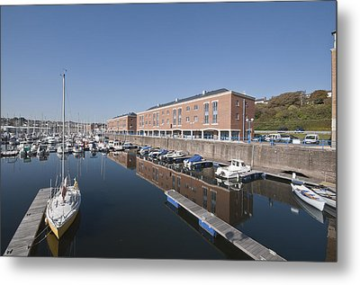 Metal Print featuring the photograph Milford Haven Marina 2 by Steve Purnell