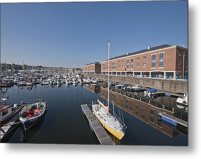Metal Print featuring the photograph Milford Haven Marina 3 by Steve Purnell