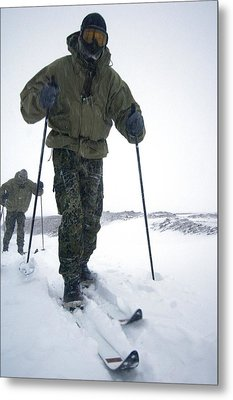 Military Arctic Survival Training Metal Print by Louise Murray