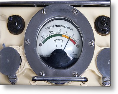 Military Radiation Meter Metal Print by Sheila Terry