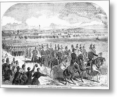 Militia Review, 1859 Metal Print