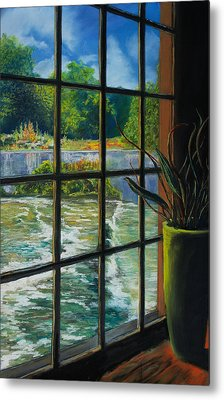 Mill With A View Metal Print by Peter Jackson