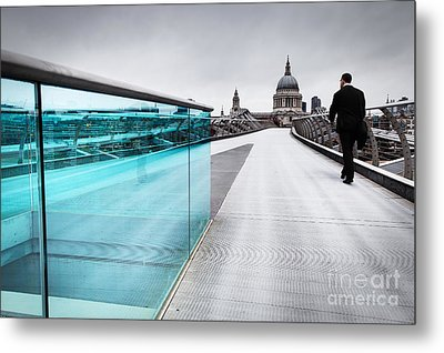 Millenium Commuter Metal Print by Martin Williams