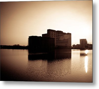 Millenium Mills Warehouse Metal Print by Lenny Carter