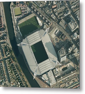 Millennium Stadium, Cardiff,aerial View Metal Print by Getmapping Plc