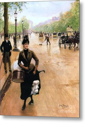 Milliner On The Champs Elys'ees Metal Print by Pg Reproductions