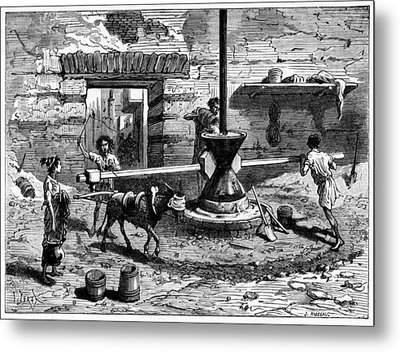 Milling Flour, Historical Artwork Metal Print by Cci Archives