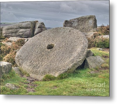 Millstone On Edge Metal Print by Steev Stamford