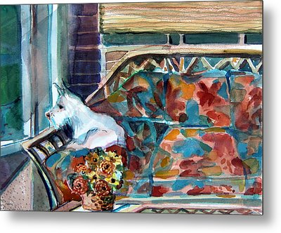 Milly Has A Rainy Day Metal Print by Mindy Newman