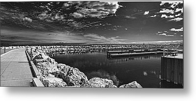 Milwaukee Breakwater Metal Print by Gordon Engebretson