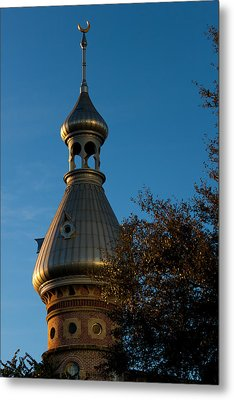 Metal Print featuring the photograph Minaret And Trees by Ed Gleichman