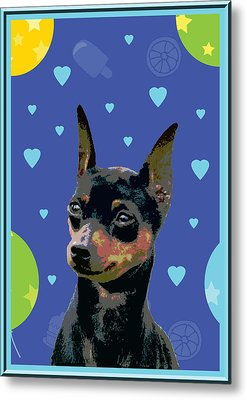 Minature Pinscher Metal Print by One Rude Dawg Orcutt