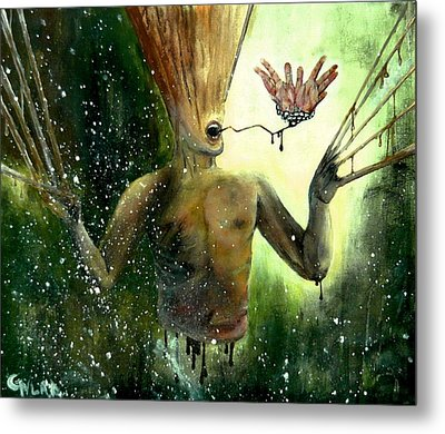 Mind Remnants - Panic And Paranoia Metal Print by Grigore Vlad