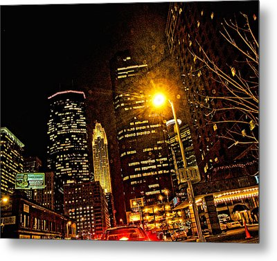 Minneapolis Night Lights Metal Print by Susan Stone
