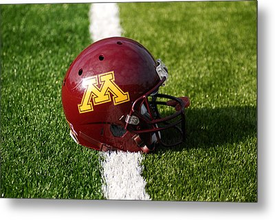 Minnesota Football Helmet Metal Print