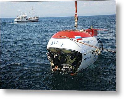 Mir-1 Submersible At Lake Baikal Metal Print by Ria Novosti