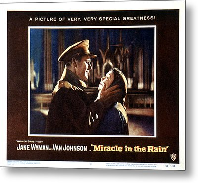 Miracle In The Rain, Van Johnson, Jane Metal Print by Everett