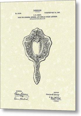 Mirror Back Design I 1907 Patent Art Metal Print by Prior Art Design