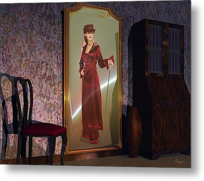Metal Print featuring the digital art Mirror by John Pangia